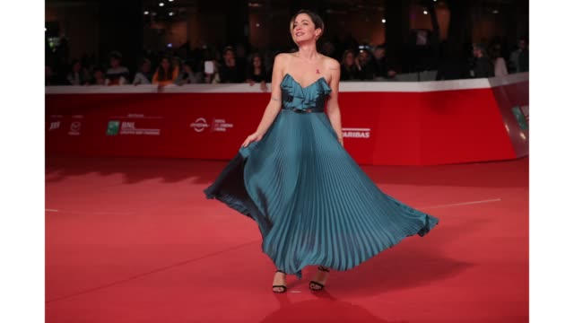 gif andrea delogu walks the red carpet ahead of the 'the girl in the spider's web' screening during the 13th rome film fest at gif rome film fest... - rome film fest stock videos and b-roll footage