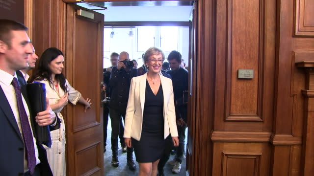 Andrea Leadsom arriving as she begins her Conservative Party leadership campaign