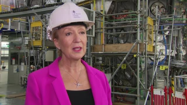 andrea leadsom visits uk atomic energy authority fusion energy research centre england oxfordshire culham remote applications in challenging... - environmental conservation stock videos & royalty-free footage