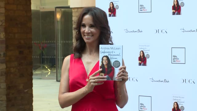 andrea mclean at devonshire club on june 26 2018 in london england - book club stock videos & royalty-free footage