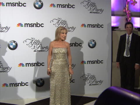 andrea mitchell posing on the red carpet at the white house correspondent's dinner. - msnbc stock videos & royalty-free footage