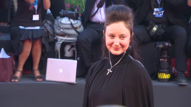 andrea riseborough at opening night gala 'birdman' red carpet - 71st venice international film festival at palazzo del casino on august 27, 2014 in... - 第71回ベネチア国際映画祭点の映像素材/bロール