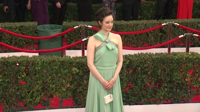 andrea riseborough at the 21st annual screen actors guild awards arrivals at the shrine auditorium on january 25 2015 in los angeles california - escada stock videos & royalty-free footage