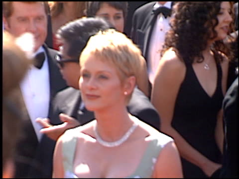 andrea thompson at the 1998 emmy awards at the shrine auditorium in los angeles california on september 13 1998 - andrea thompson stock videos & royalty-free footage
