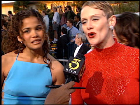 andrea thompson at the screen actor's guild awards at the shrine auditorium in los angeles california on february 22 1997 - andrea thompson stock videos & royalty-free footage
