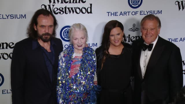 Andreas Kronthaler Vivienne Westwood Jennifer Howell and Tim Headington at the The Art of Elysium's Ninth Annual Heaven Gala at 3LABS on January 9...