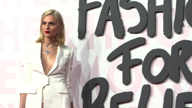 andreja pejic at fashion for relief fashion catwalk - the 71st cannes fillm festival at aeroport cannes mandelieu on may 13, 2018 in cannes, france. - カンヌ・マンデリュー空港点の映像素材/bロール