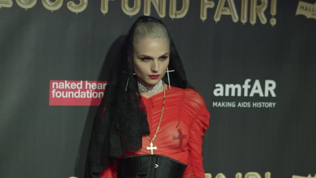 Andreja Pejic at Natalia Vodianova's Naked Heart Foundation to partner with amfAR in New York for Fabulous Fund Fair at Skylight Clarkson Sq on...