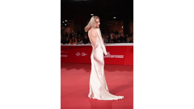gif andreja pejic walks the red carpet ahead of the 'the girl in the spider's web' screening during the 13th rome film fest at gif rome film fest... - rome film fest stock videos and b-roll footage