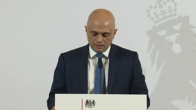 andrew bailey announced as new bank of england governor england london int sajid javid mp press conference [announcing appointment of andrew bailey... - sajid javid stock videos & royalty-free footage