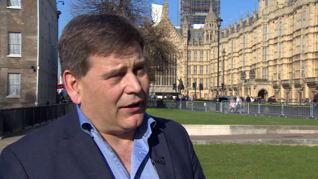 andrew bridgen saying if ministers or cabinet ministers cannot publicly support government policy in regards to brexit then they have to resign - parlamentare britannico video stock e b–roll