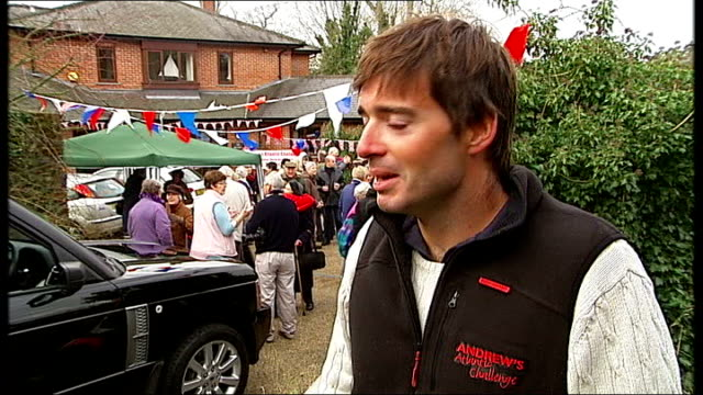 andrew brown becomes fastest man to have rowed solo across the atlantic england surrey limpsfield day andrew brown interview sot on how it feels to... - world record stock videos and b-roll footage