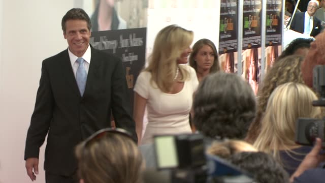 andrew cuomo and sandra lee at the 'julie julia' premiere at new york ny - andrew cuomo stock videos and b-roll footage