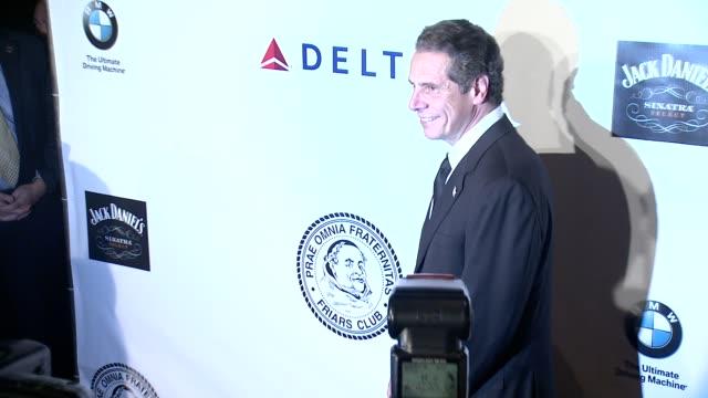 andrew cuomo, governor of new york at friars foundation gala honoring robert de niro and carlos slim at the waldorf=astoria on october 07, 2014 in... - 長点の映像素材/bロール