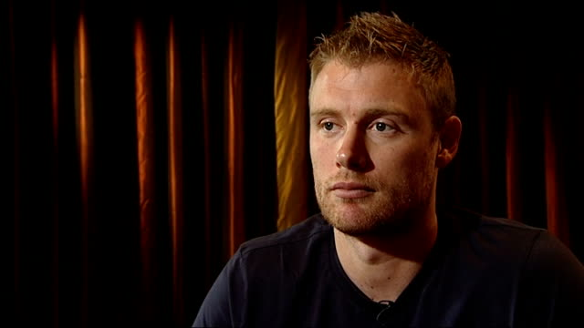 andrew flintoff interview flintoff interview sot is playing for england i have retired from test cricket which is something i didn't want to do at 31... - game of chance stock videos & royalty-free footage