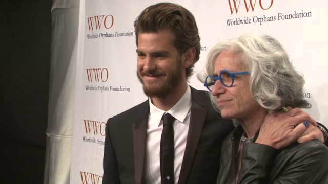 andrew garfield and jane aronson at worldwide orphans 15th anniversary benefit gala at cipriani wall street on november 13 2012 in new york new york - cipriani wall street stock videos & royalty-free footage