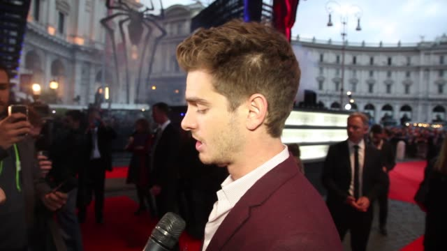 INTERVIEW Andrew Garfield on being in Rome and on playing Spiderman for the second time at 'The Amazing SpiderMan 2 Rise Of Electro' Rome Premiere at...