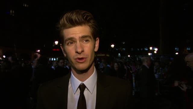 Andrew Garfield on whether the film was smooth running Keira and Carey whether he's been reading Spiderman comics at the Never Let Me Go Premiere...
