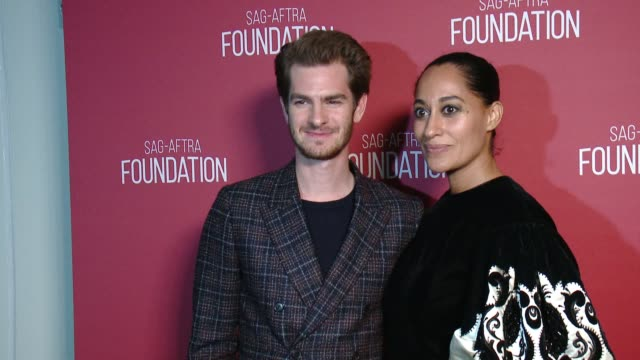 Andrew Garfield Tracee Ellis Ross at SAGAFTRA Foundation Patron of the Arts Awards in Los Angeles CA