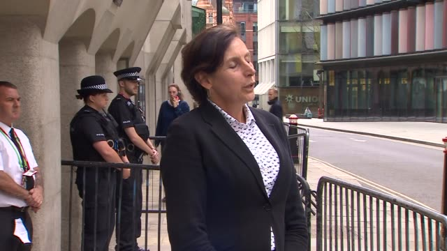 cps statement outside court england london ext rebecca waller statement to press outside court sot / waller answering question from press sot - crime and murder stock videos & royalty-free footage