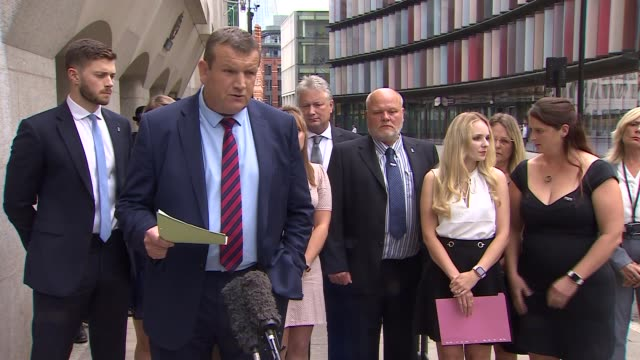 family statement outside court england london old bailey ext detective chief inspector stuart blaik statement sot - crime and murder stock videos & royalty-free footage