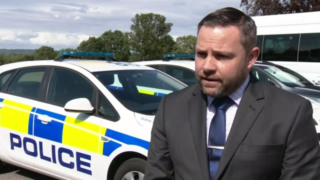 Police charge man with murder as nine suspects released on bail ENGLAND Berkshire EXT Sargent Andy Fiddler interview SOT Sulhamstead EXT Reporter to...