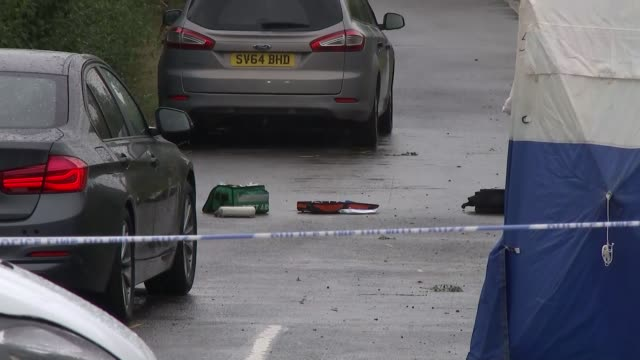 Ten people arrested ENGLAND Berkshire Sulhamstead EXT Items left in the road at the site where PC Andrew Harper was murdered including a first aid...
