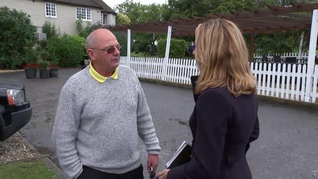 Ten people arrested ENGLAND Berkshire Sulhamstead EXT Robert CaveDebuse CaveDebuse talking to reporter Robert CaveDebuse interview SOT