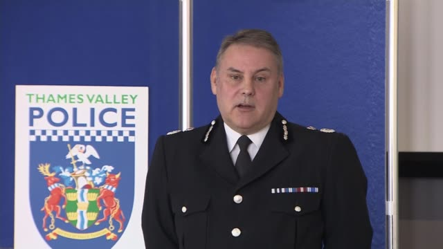 Ten people arrested ENGLAND Berkshire INT Chief Constable John Campbell press conference SOT