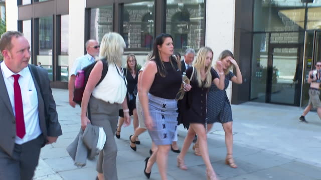 andrew harper's widow lizzie leaving court after three men involved with his death received their sentences - physical activity stock videos & royalty-free footage