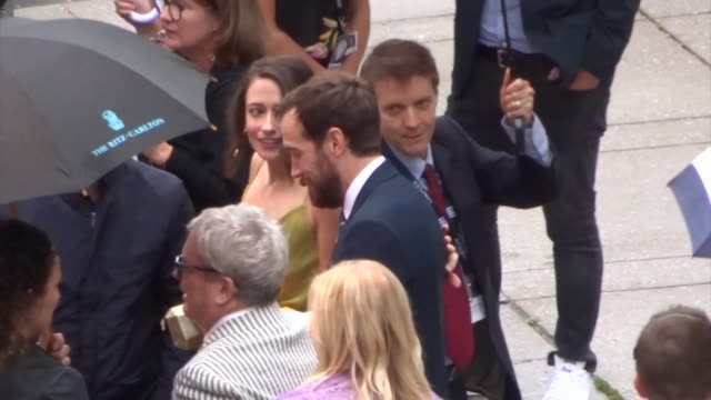andrew lanham spotted on day 2 of the 2019 toronto international film festival at celebrity sightings in toronto on september 06, 2019 in toronto,... - toronto international film festival stock videos & royalty-free footage