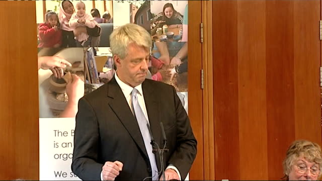 andrew lansley first speech as health secretary; andrew lansley speech continued sot - so we will work with nhs staff to embed a safety culture... - performance improvement stock videos & royalty-free footage