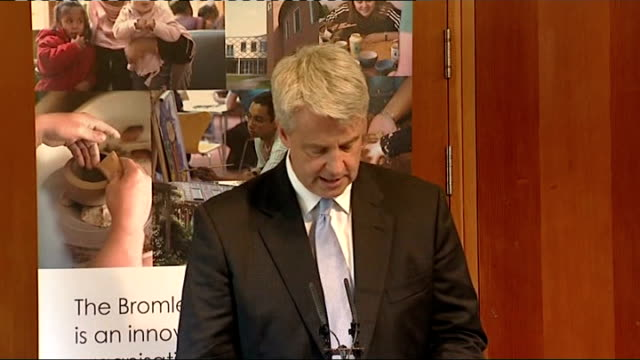 andrew lansley first speech as health secretary england east london int andrew lansley mp speech sot thank you all for being here and for giving us... - running shorts stock videos & royalty-free footage