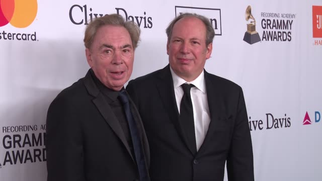 Andrew Lloyd Webber and Hans Zimmer at Clive Davis PreGRAMMY Gala at Sheraton Times Square on January 27 2018 in New York City