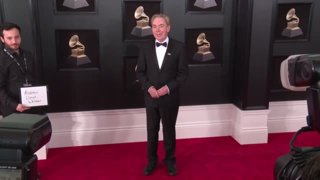 andrew lloyd webber at 60th grammy awards celebration party at madison square garden on january 28 2018 in new york city - andrew lloyd webber stock videos & royalty-free footage