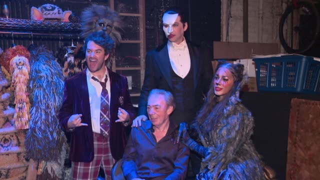 andrew lloyd webber at broadway revival of andrew lloyd weber's cats opening at neil simon theatre on july 31, 2016 in new york city. - revival stock videos & royalty-free footage