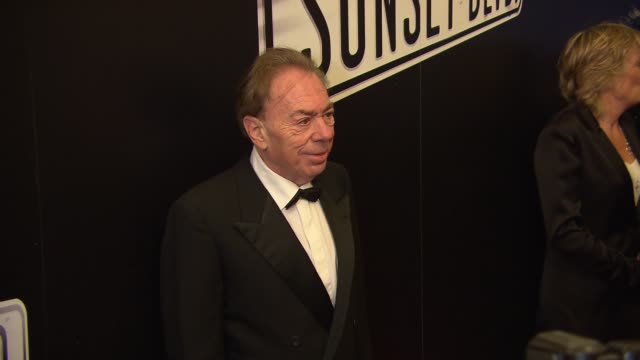 andrew lloyd webber at sunset boulevard opening night at palace theatre on february 09 2017 in new york city - andrew lloyd webber stock videos & royalty-free footage