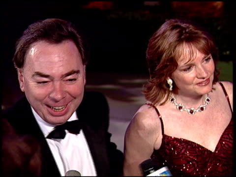 andrew lloyd webber at the 1997 academy awards vanity fair party at the shrine auditorium in los angeles california on march 24 1997 - 映画芸術科学協会点の映像素材/bロール