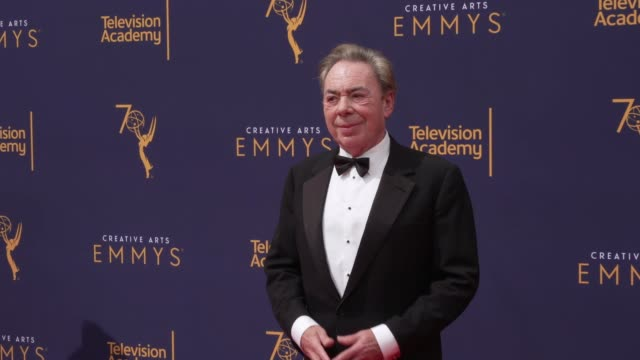 andrew lloyd webber at the 2018 creative arts emmy awards day 2 at microsoft theater on september 09 2018 in los angeles california - andrew lloyd webber stock videos & royalty-free footage