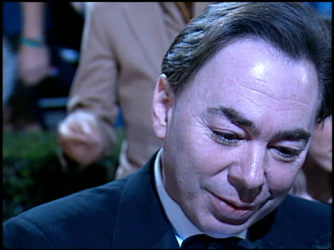 andrew lloyd webber at the 'evita' premiere at the shrine auditorium in los angeles california on december 14 1996 - andrew lloyd webber stock videos & royalty-free footage