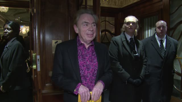 andrew lloyd webber at victoria palace theatre on december 21 2017 in london england - andrew lloyd webber stock videos & royalty-free footage