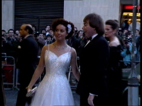marriage ended [england london] f'back andrew lloydwebber wife sarah brightman arriving at premiere of aspects of love lib - andrew lloyd webber stock videos and b-roll footage