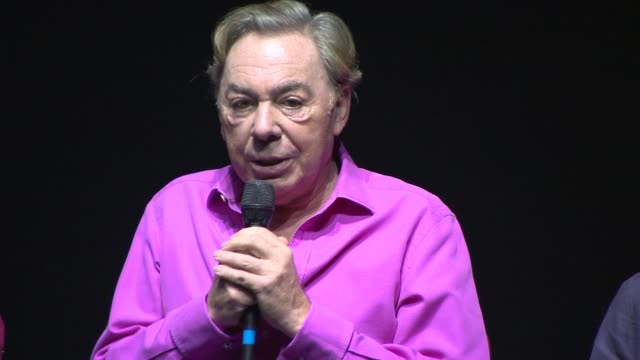 stockvideo's en b-roll-footage met interview andrew lloyd webber on making changes for the new edition of the show at 'cats' photocall at london palladium on july 07 2014 in london... - london palladium