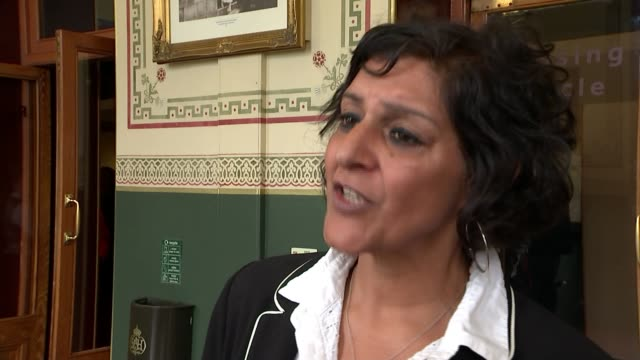 andrew lloyd webber 'prepared to fund music tsar' to boost arts teaching; england: london: royal albert hall: int meera syal interview sot/ sir lenny... - meera syal stock videos & royalty-free footage