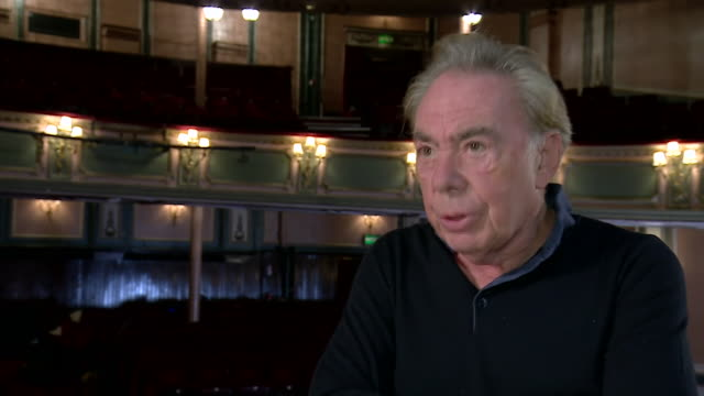 """andrew lloyd webber saying it's ridiculous that britain is dragging its heels over reopening theatres due to coronavirus - """"bbc news"""" stock videos & royalty-free footage"""