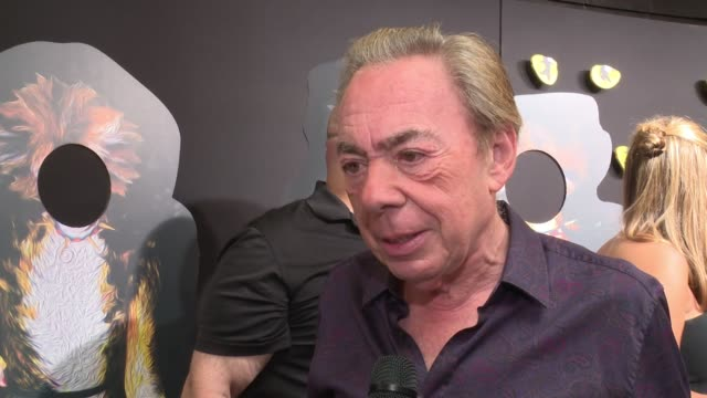 interview andrew lloyd weber is enjoying taking a look at this revival as a composer says he feels fortunate to have put the ts eliot poetry to music... - andrew lloyd webber stock videos & royalty-free footage