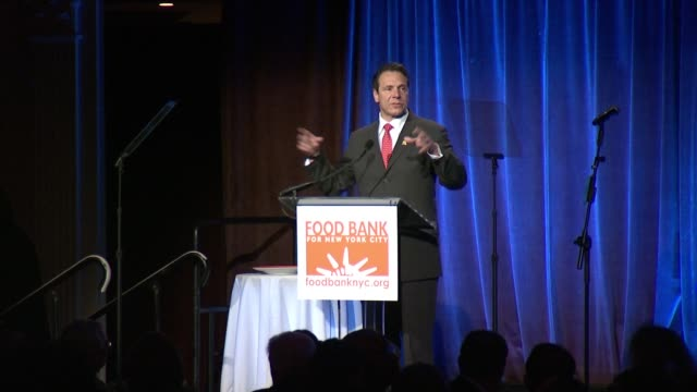 speech andrew m cuomo governor of new york says it gets complicated at the top it is simple at the bottom talks about one out of five people going to... - andrew cuomo stock videos and b-roll footage