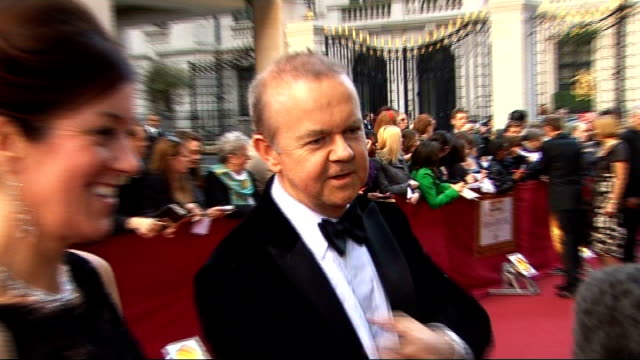 andrew marr accused of hypocrisy over 'super injunction'; lib grosvenor house hotel: ian hislop and his wife victoria hislop along red carpet at... - ian hislop stock videos & royalty-free footage