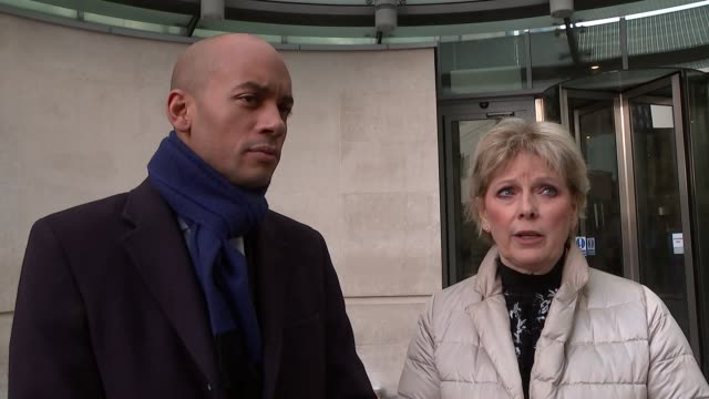 stockvideo's en b-roll-footage met andrew marr show doorstep interviews chuka umunna mp and anna soubry mp interview sot re brexit - andrew marr