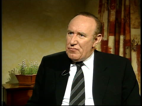 andrew neil interview sot - all editors run the risk of taking a risk too far/ has implications for british soldiers and britain's reputation - andrew neil stock videos & royalty-free footage
